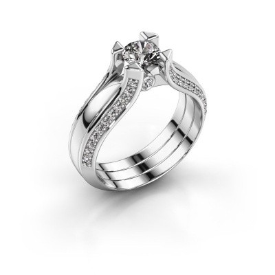 Engagement ring Nadine 585 white gold zirconia 5 mm