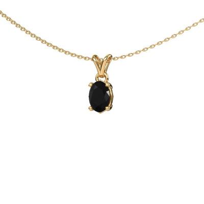Ketting Lucy 1 585 goud zwarte diamant 0.96 crt