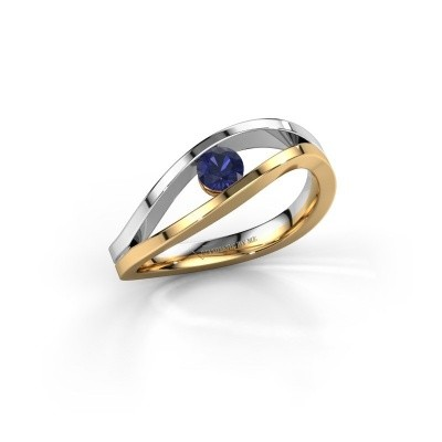 Engagement ring Sigrid 1 585 gold sapphire 3.7 mm