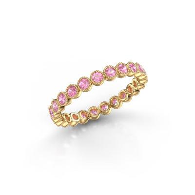 Bild von Ring Mariam 0.03 585 Gold Pink Saphir 2 mm