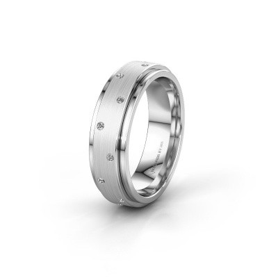 Trouwring WH2134L 585 witgoud lab-grown diamant ±6x2.2 mm