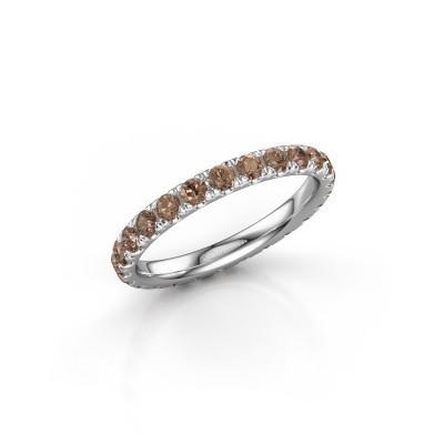 Foto van Ring Jackie 2.3 950 platina bruine diamant 1.25 crt
