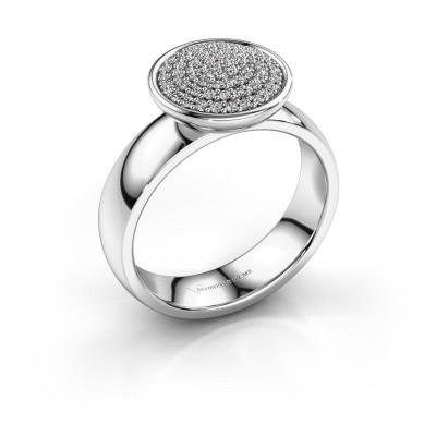 Ring Tilda 585 witgoud zirkonia 1 mm