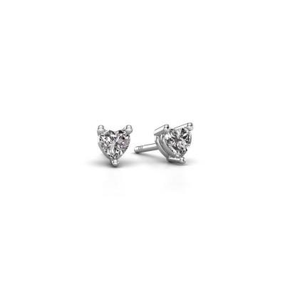 Bild von Ohrsteckers Garnet 585 Weissgold Diamant 0.50 crt