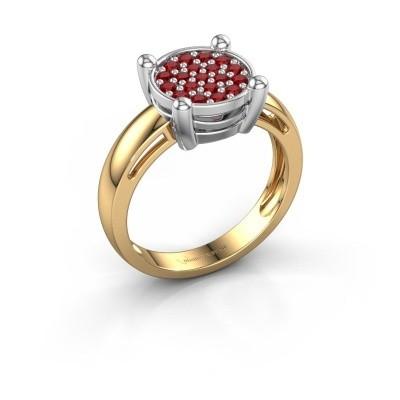 Foto van Ring Dina 585 goud robijn 1.6 mm