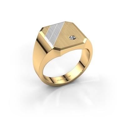 Foto van Zegelring Patrick 3 585 goud zirkonia 2.5 mm