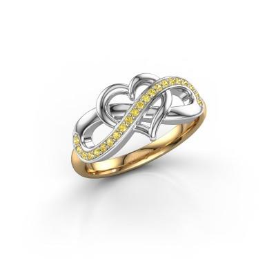 Foto van Ring Yael 585 goud gele saffier 1.1 mm
