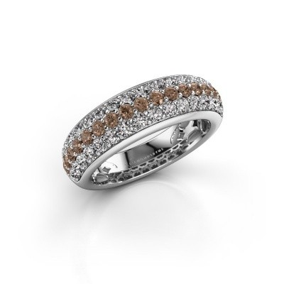 Picture of Ring Emely 8 925 silver brown diamond 1.316 crt