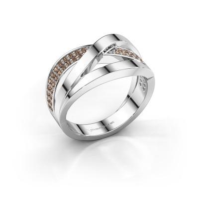 Ring Amira 585 witgoud bruine diamant 0.345 crt