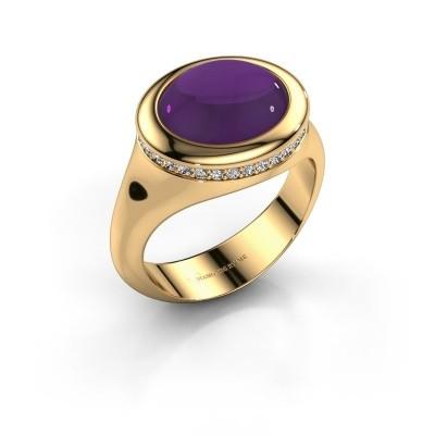 Foto van Ring Lesli ovl 375 goud amethist 12x10 mm