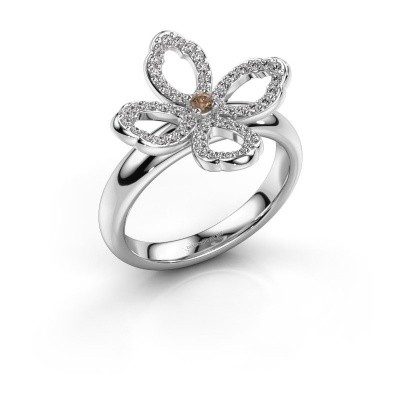 Ring Chelsea 925 zilver bruine diamant 0.31 crt