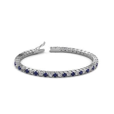 Bild von Tennis Armband Karin 3.5 mm 585 Weißgold Diamant 4.32 crt