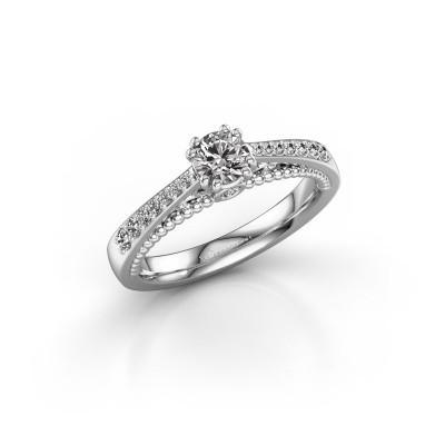 Foto van Verlovingsring Rozella 950 platina diamant 0.518 crt