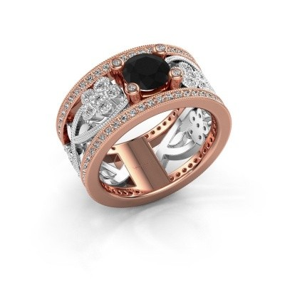 Picture of Ring Severine 585 rose gold black diamond 1.565 crt