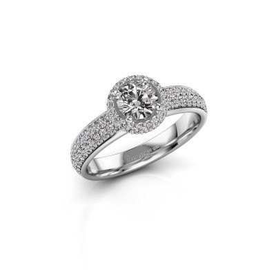 Engagement ring Mildred 585 white gold zirconia 5 mm