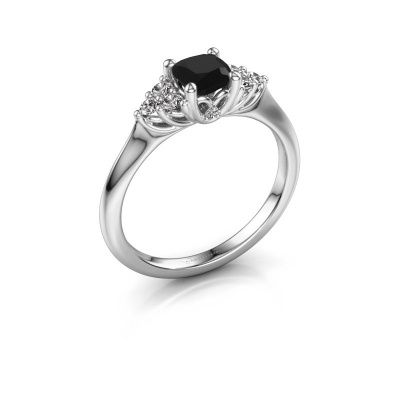 Verlovingsring Felipa CUS 925 zilver zwarte diamant 0.893 crt