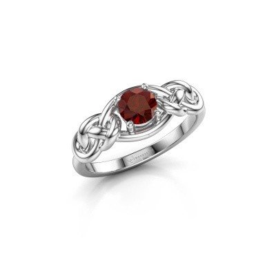 Picture of Ring Zoe 585 white gold garnet 5 mm