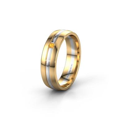 Trouwring WH0420L25X 585 goud citrien ±5x1.5 mm