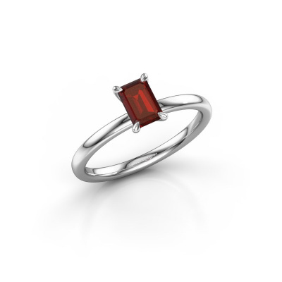 Picture of Engagement ring Crystal EME 1 925 silver garnet 6x4 mm