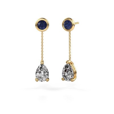 Picture of Drop earrings Laurie 3 375 gold diamond 2.10 crt