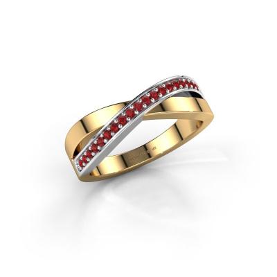 Foto van Ring Kaley 585 goud robijn 1.2 mm