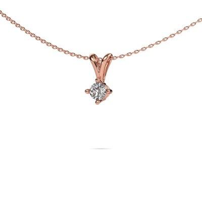 Foto van Ketting Jannette 375 rosé goud diamant 0.25 crt