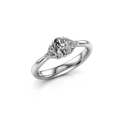 Picture of Engagement ring Aleida OVL 1 950 platinum diamond 0.63 crt
