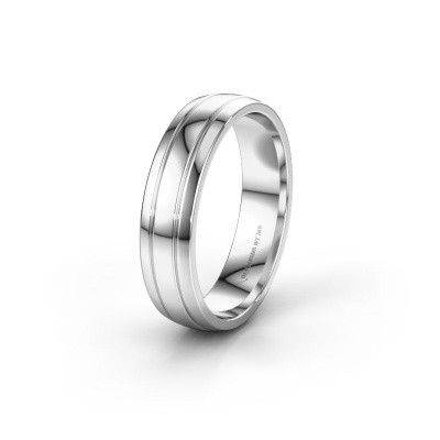 Wedding ring WH0422M25X 925 silver ±5x1.5 mm