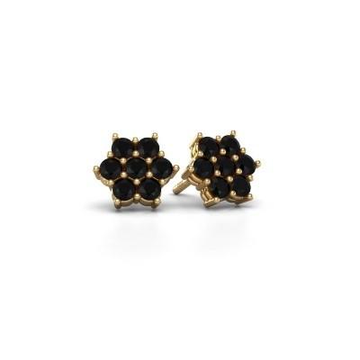 Foto van Oorstekers Bonita 375 goud zwarte diamant 0.924 crt