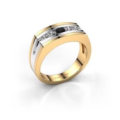 Foto van Heren ring Huub 585 goud zwarte diamant 0.60 crt