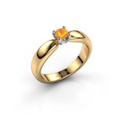 Promise ring Katrijn 585 gold citrin 4.2 mm