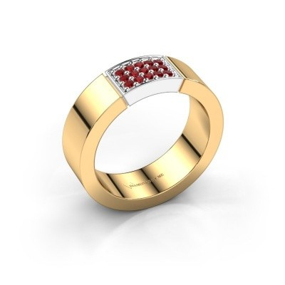 Foto van Ring Zoey 585 goud robijn 1.3 mm