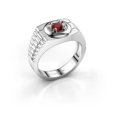 Foto van Rolex stijl ring Edward 925 zilver robijn 4.7 mm