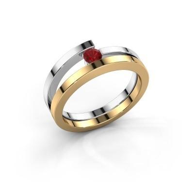 Ring Sandy 585 goud robijn 3.4 mm