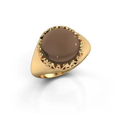 Foto van Ring Birgit 585 goud rookkwarts 12 mm