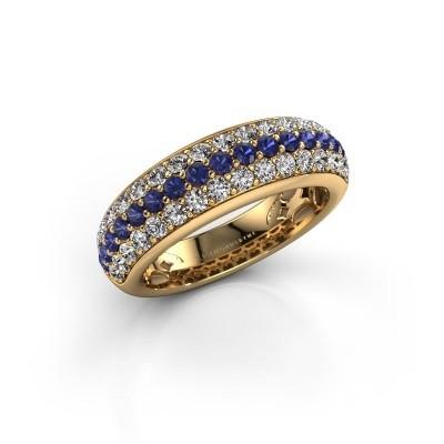 Foto van Ring Emely 8 375 goud saffier 1.9 mm