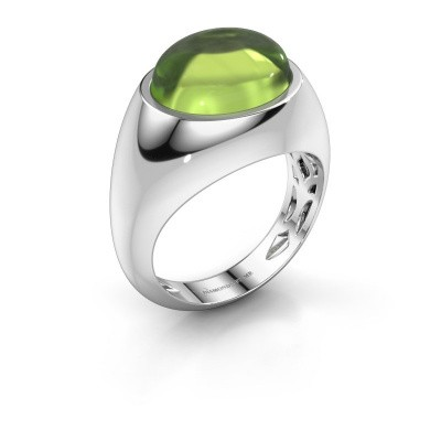 Ring Laurien 375 white gold peridot 12x10 mm