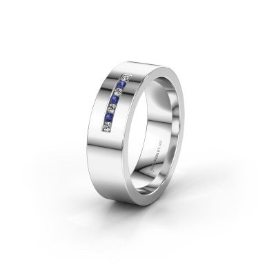 Wedding ring WH0108L16BP 925 silver sapphire ±6x2 mm