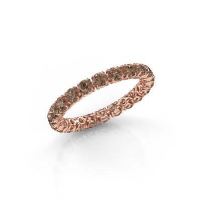 Foto van Ring Vivienne 2.7 375 rosé goud bruine diamant 1.68 crt