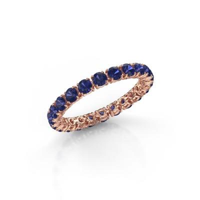Foto van Ring Vivienne 2.7 375 rosé goud saffier 2.7 mm