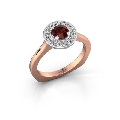Foto van Ring Kanisha 1 585 rosé goud granaat 5 mm