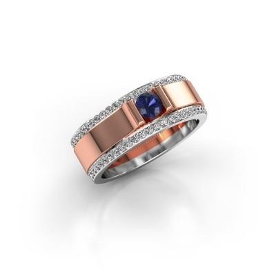 Men's ring Danillo 585 rose gold sapphire 4.2 mm