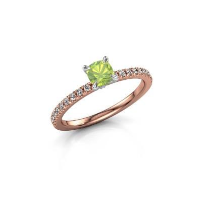 Verlobungsring Crystal CUS 2 585 Roségold Peridot 5 mm