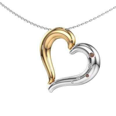 Ketting Pei 585 goud bruine diamant 0.083 crt