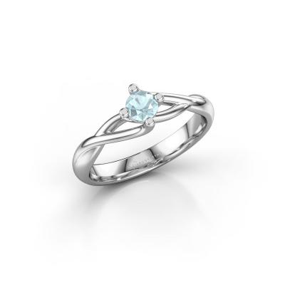 Picture of Engagement ring Paulien 950 platinum aquamarine 4 mm