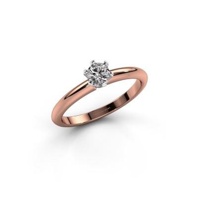 Foto van Verlovingsring Tiffy 1 585 rosé goud diamant 0.25 crt