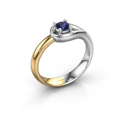 Ring Fabienne 585 white gold sapphire 4 mm