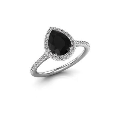 Foto van Verlovingsring Monique 2 585 witgoud zwarte diamant 1.435 crt