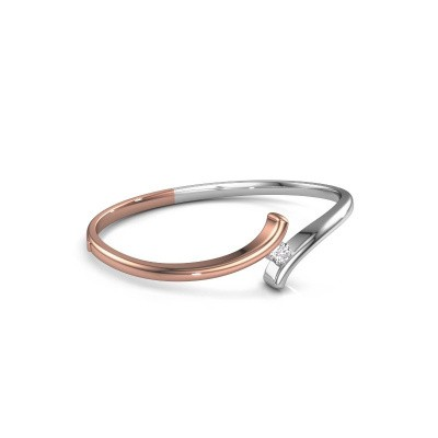 Slavenarmband Amy 585 rosé goud diamant 0.50 crt