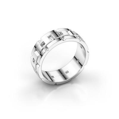 Foto van Rolex stijl ring Ricardo 585 witgoud diamant 0.45 crt
